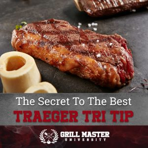 Trip tip roast on a Traeger grill