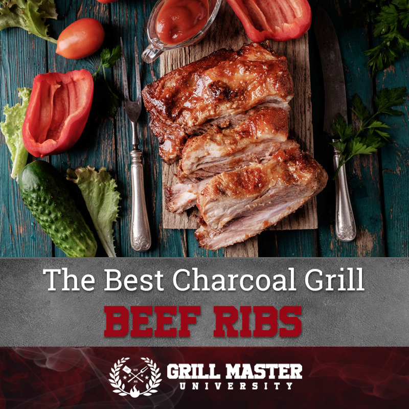 The best beef ribs on a charcoal grill