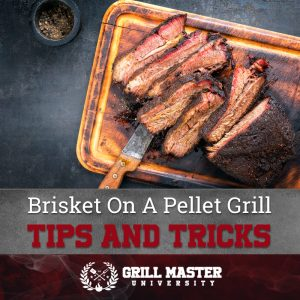 Smoked brisket on a pellet grill