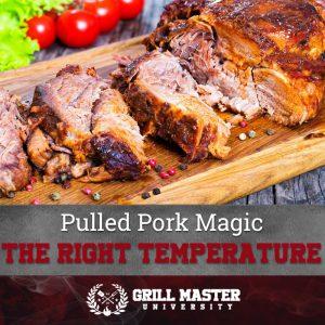 Pulled pork temperature