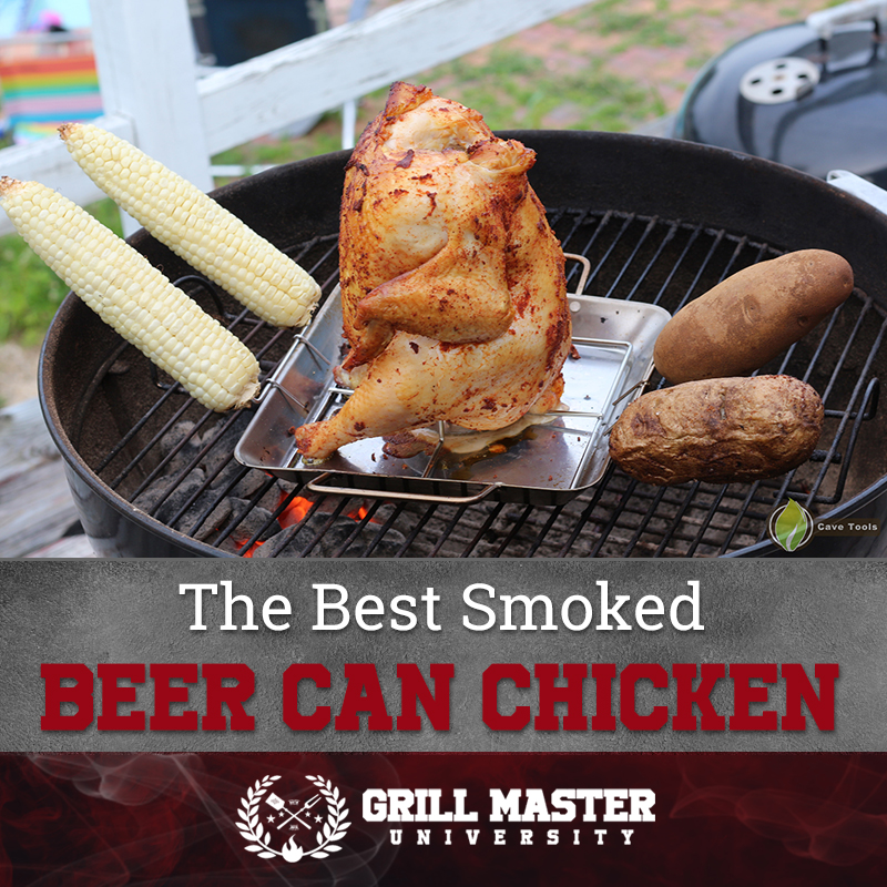 The Best Smoked Beer Can Chicken