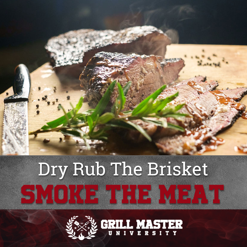 Dry rub the brisket