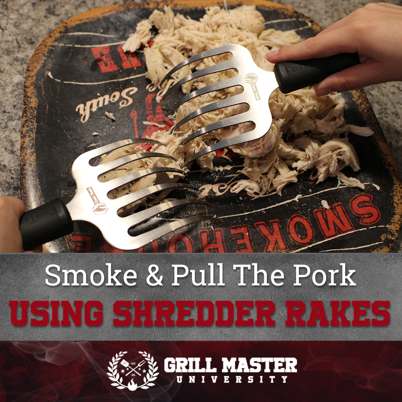 Pull the pork with shredder rakes