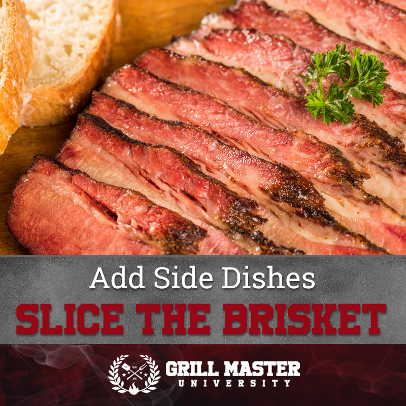 Slice the brisket
