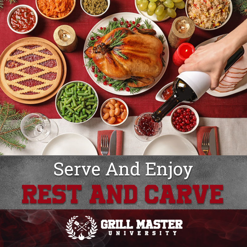 Carve the turkey