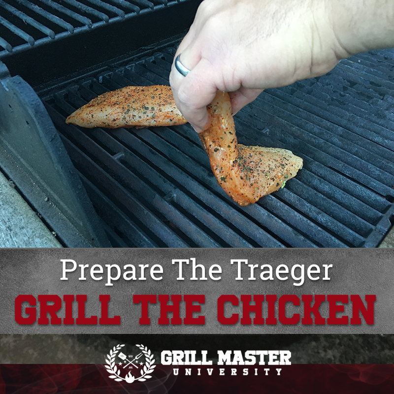 Put chicken on the grill