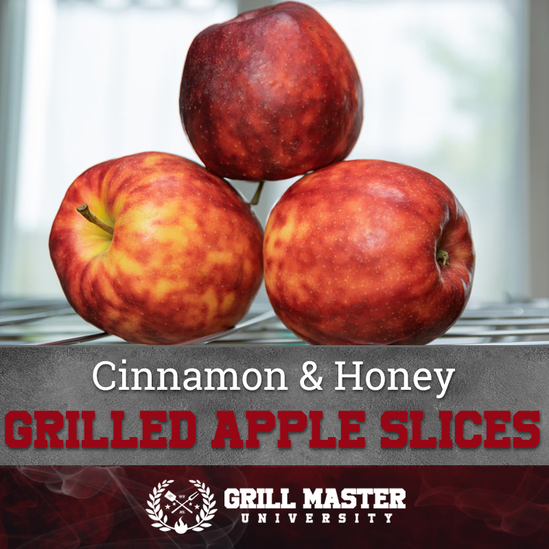 Cinnamon and honey grilled apple slices