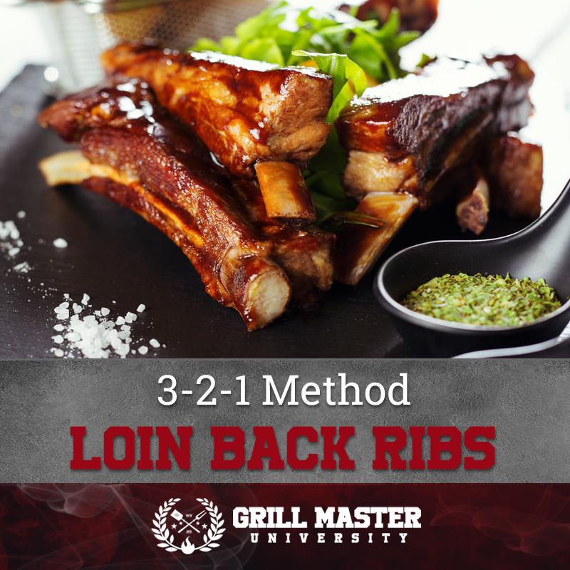 3-2-1 method loin back ribs