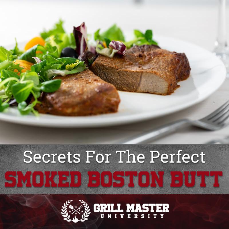Perfect smoked Boston butt