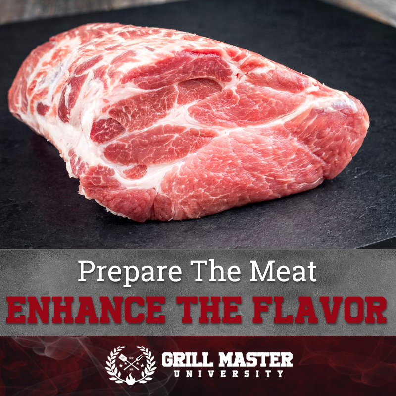 Prepare the meat for smoking