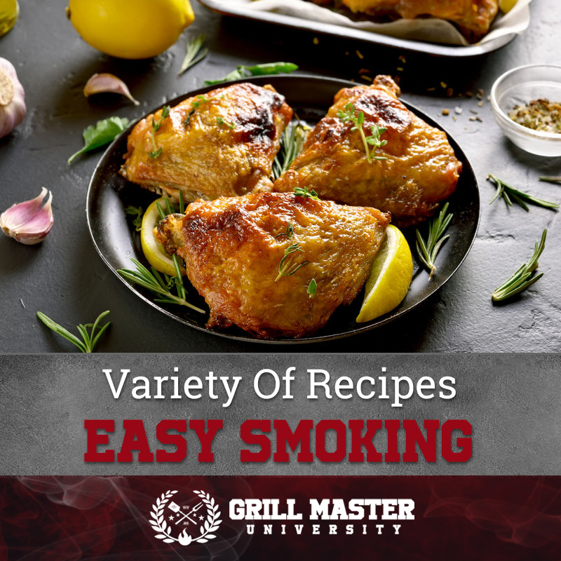 Easy smoked chicken thighs