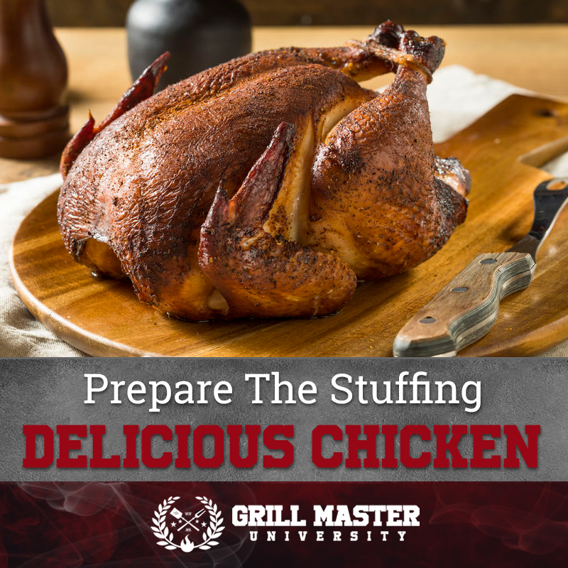 Prepare the stuffing for the chicken