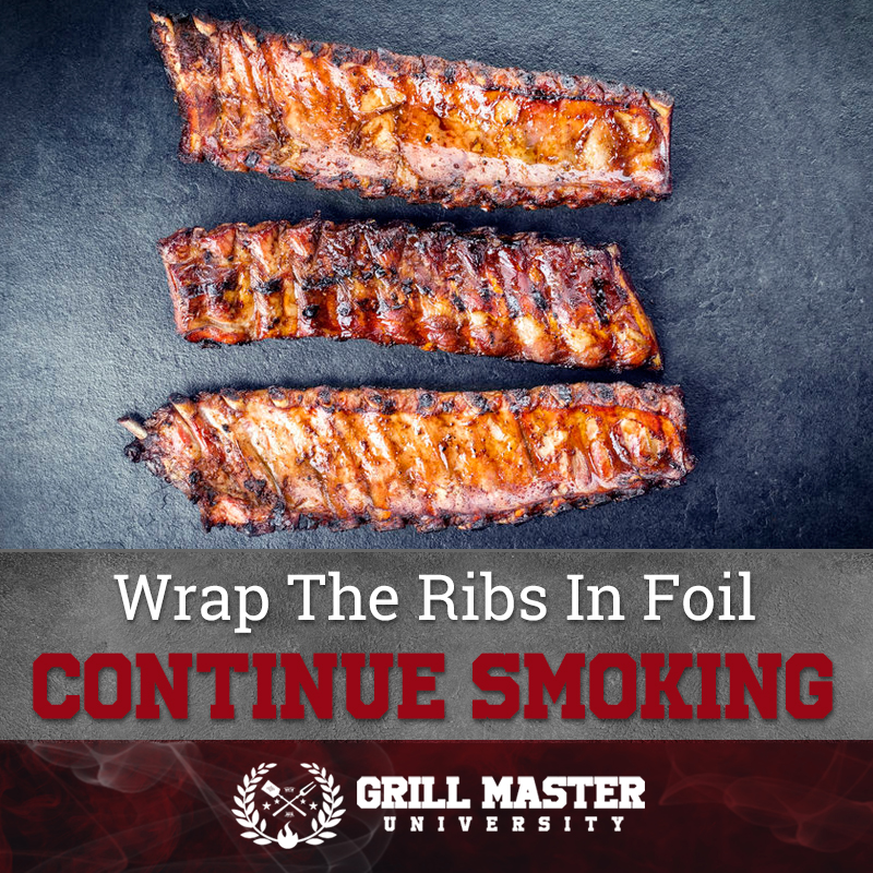 Wrap the ribs in foil