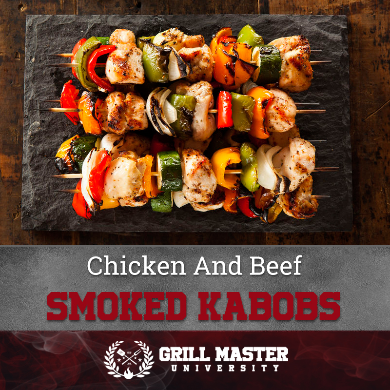 Smoked chicken kabobs