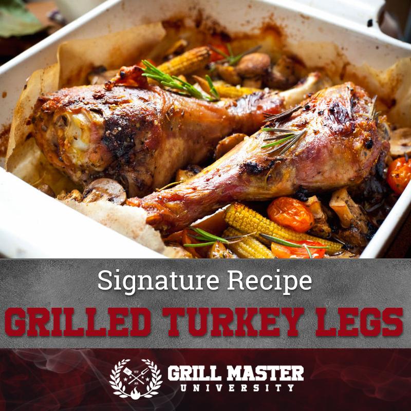 Grilled turkey legs