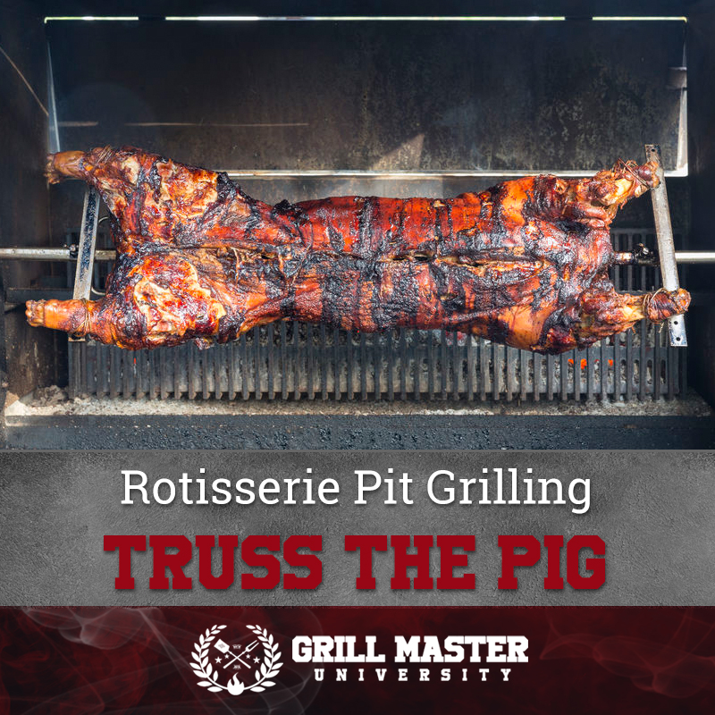 Rotisserie Pit Grilling Truss The Pig