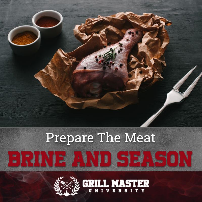 Prepare The Meat Brine And Season