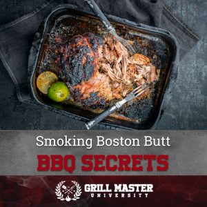 Smoking Boston Butt