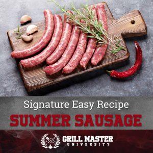 Summer Sausage recipe