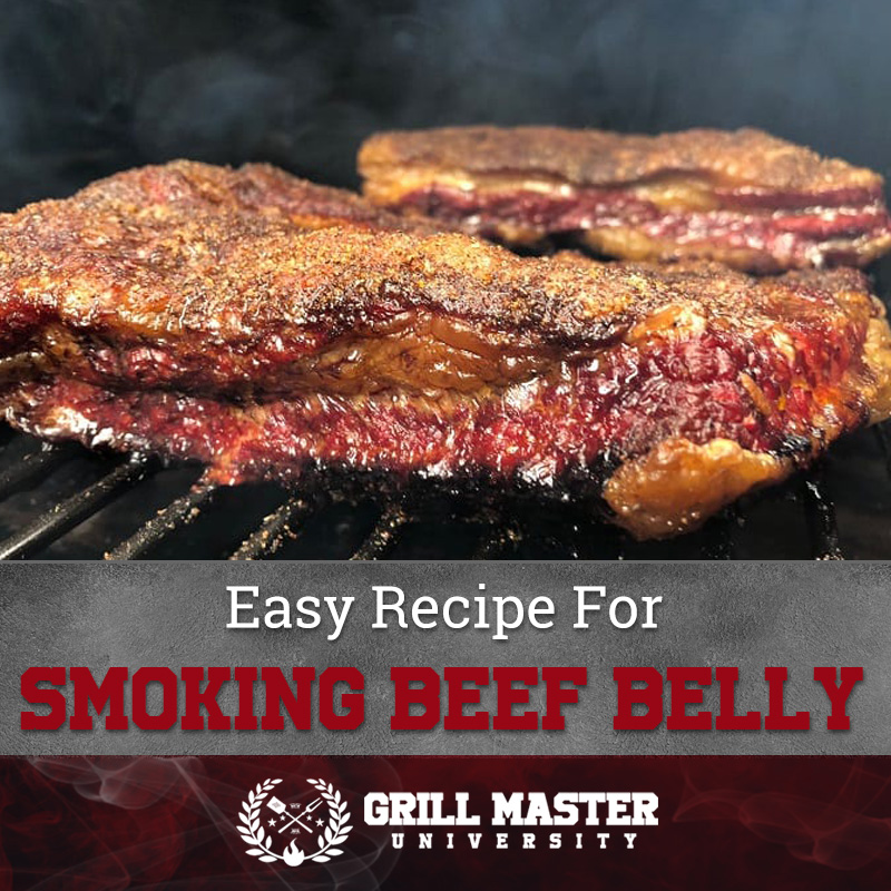 Smoking beef belly