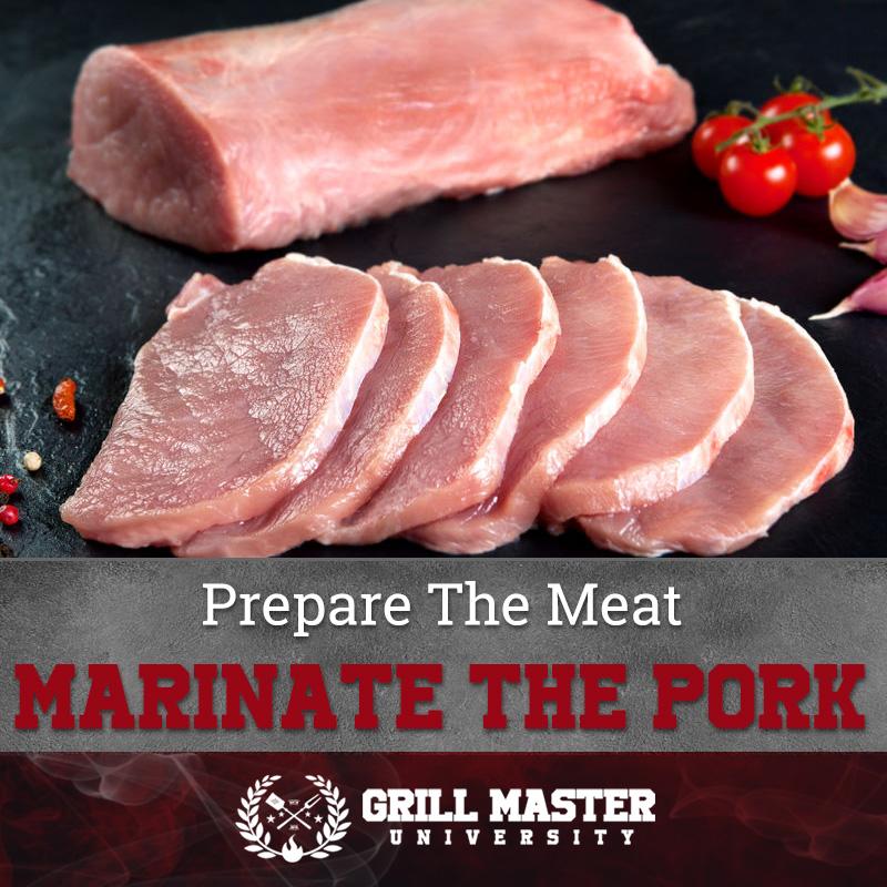 Marinate the pork loin